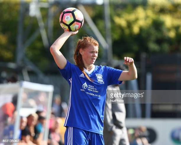 Meaghan Sargeant of Birmingham City LFC during Women's Super League 1 match between Arsenal Women against Birmingham City Ladies at Borehamwood...