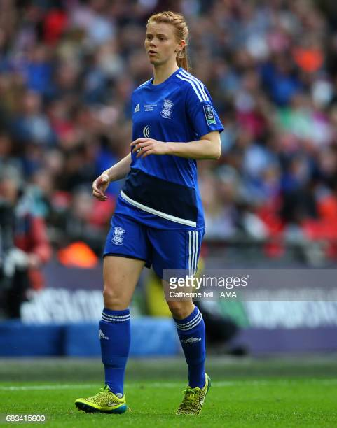 LONDON ENGLAND MAY 13 Meaghan Sergeant of Birmingham City Ladies during the SSE Women's FA Cup Final between Birmingham City Ladies and Manchester...