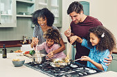 A meal cooked by the whole family tastes better