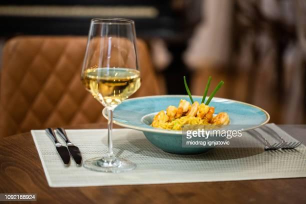 Meal in luxury restaurant