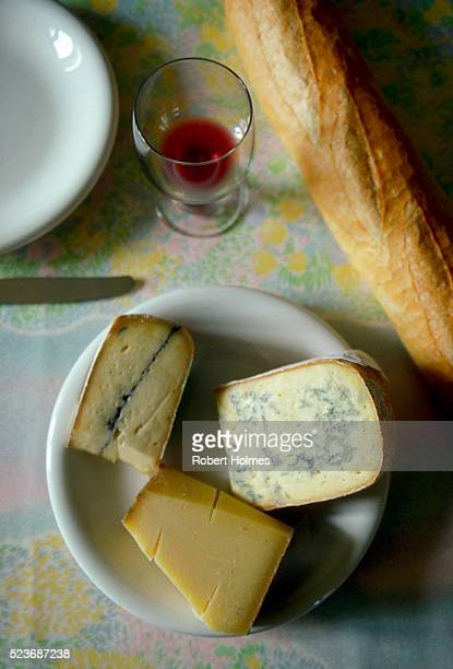 A Meal of Cheese and Bread