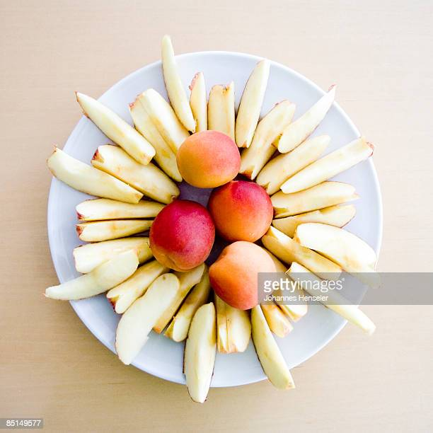 Meal of fruits, gently arranged