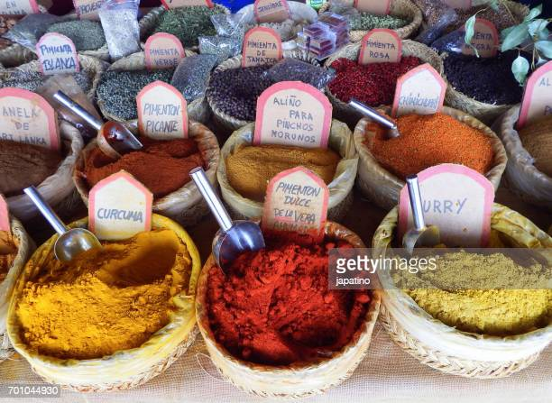 Meals and colors. Spices