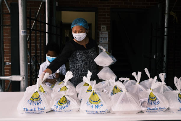 NY: Outdoor Soup Kitchen Set Up In The Bronx To Feed Those In Need