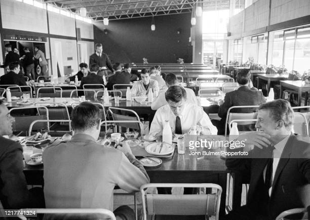 Mealtime after an Arsenal training session at London Colney, in England, on 21st August 1962.