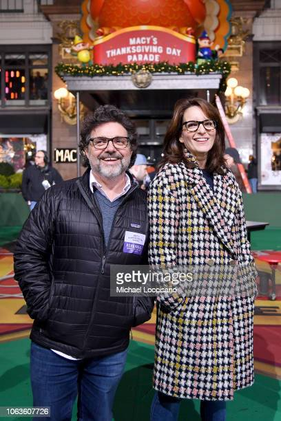 'Mean Girls' Broadway Play Composer Jeff Richmond and playwright Tina Fey attend the 92nd Annual Macy's Thanksgiving Day Parade rehearsals day one on...