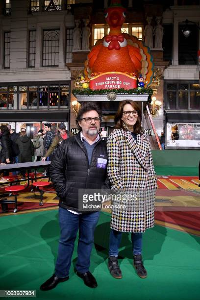 Mean Girls Broadway Play Composer Jeff Richmond and wife playwright Tina Fey attend the 92nd Annual Macy's Thanksgiving Day Parade rehearsals day one...