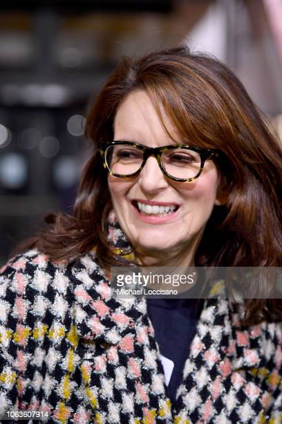 'Mean Girls' Broadway Play playwright Tina Fey attends the 92nd Annual Macy's Thanksgiving Day Parade rehearsals day one on November 19 2018 in New...