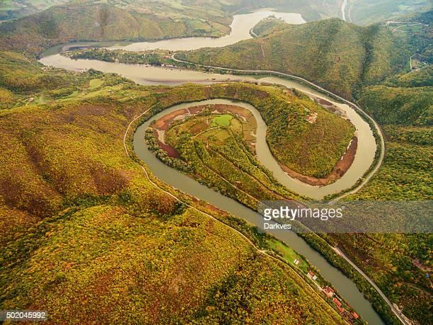 Etune rivière-vue aérienne
