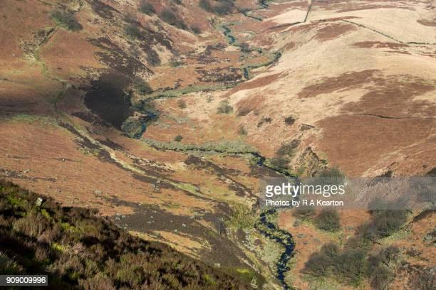 Meandering stream at Torside Clough, Derbyshire, England