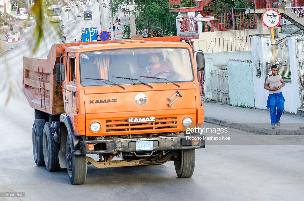 Means of Transport in Cuba: Old Russian Truck, after the ...