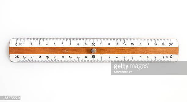 Measurement Concept: Wooden Ruler on White