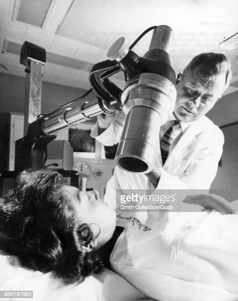 Measurement of the uptake of radioactive iodine in the thyroid gland of a patient 1965 Image courtesy US Department of Energy