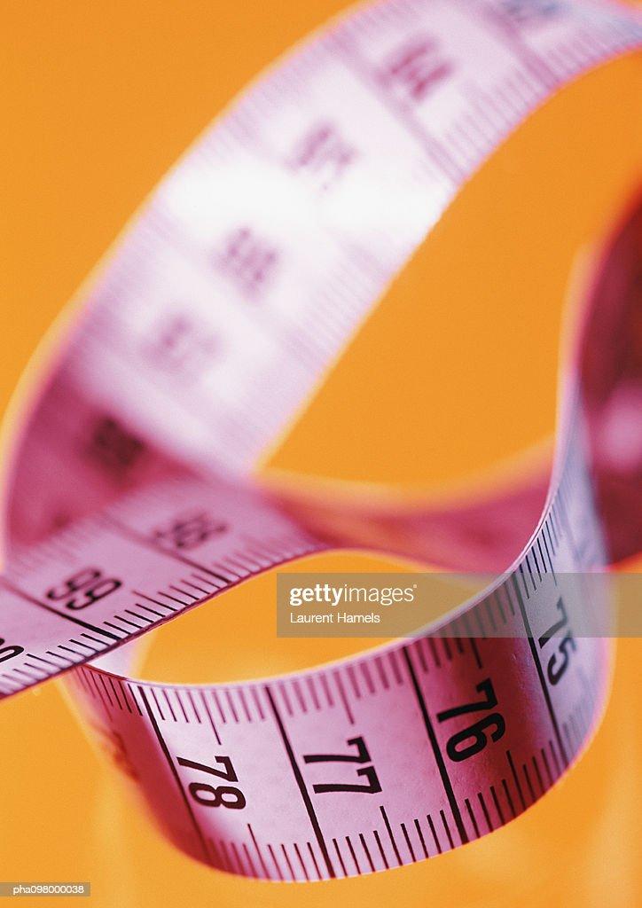 Measuring tape, close-up : Stockfoto