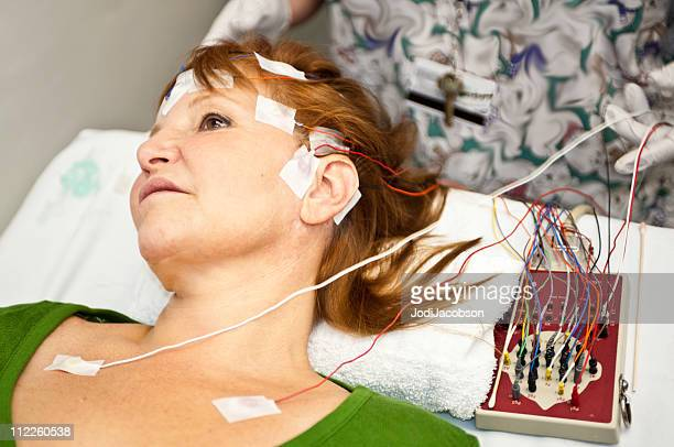 eeg measuring tape - eeg stock pictures, royalty-free photos & images