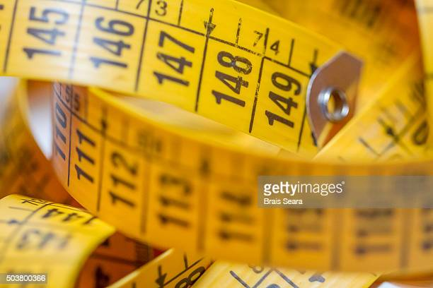 measuring tape - meter unit of length stock photos and pictures