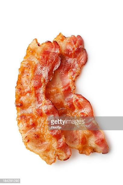 Meat: Bacon Isolated on White Background