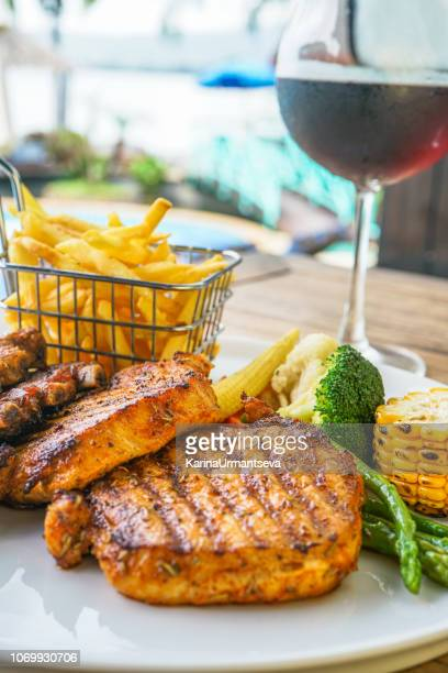 meat barbecue - karina urmantseva stock pictures, royalty-free photos & images