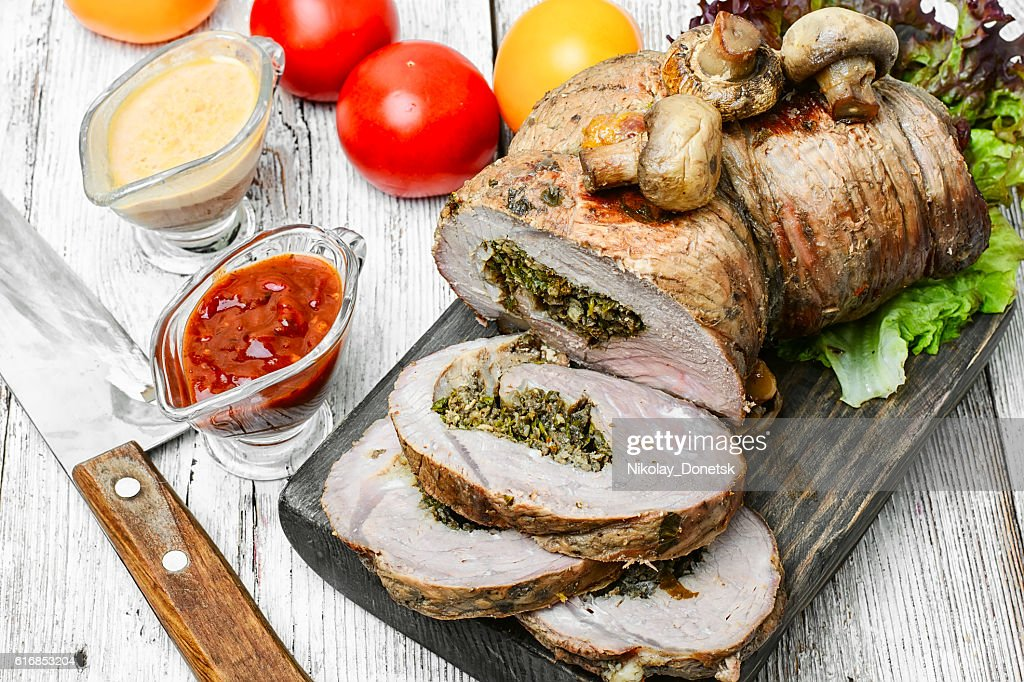 Meat beef roll : Stock Photo