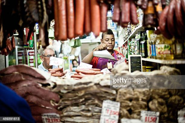 meat butcher in porto alegre brazil - porto alegre stock pictures, royalty-free photos & images