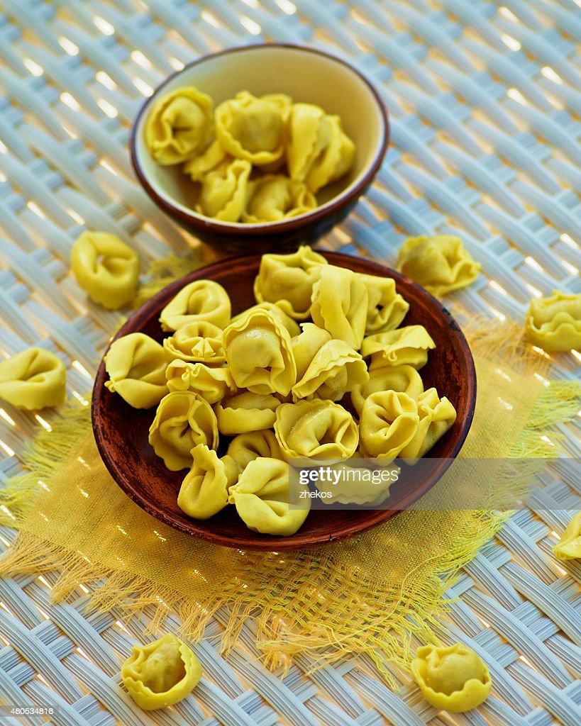 Fleisch Cappelletti : Stock-Foto