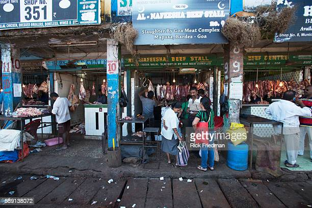 Meat complex in Mapusa Bardez marketplace in Goa India on December 1 2014