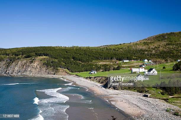 meat cove village, near ingonish, northern cape breton, nova scotia, maritimes, canada - cape breton island stock pictures, royalty-free photos & images