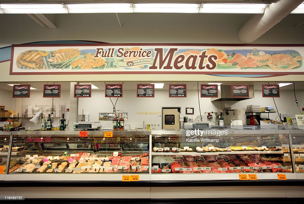 Meat department : Stock Photo