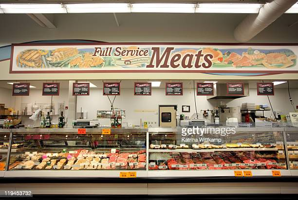 meat department - butcher's shop stock pictures, royalty-free photos & images
