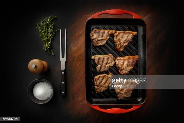 Meat: Lamb Chops Still Life