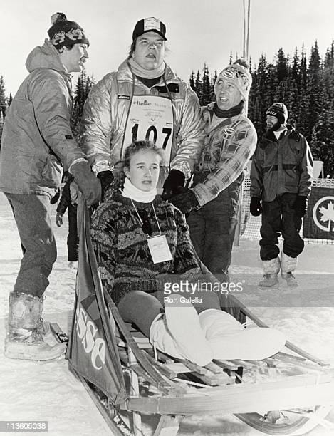 Meat Loaf and daughter during Chateau Lake Louise Centennial Celebrity Sports Invitational at Chateau Lake Louise in Lake Louise Alberta Canada