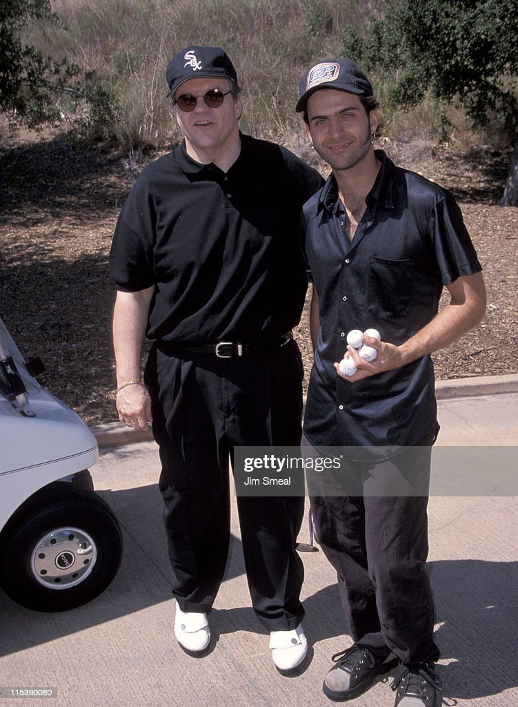 Meat Loaf and Dweezil Zappa during Casey Lee Ball Classic Charity Golf Tournament at Lake Sherwood Country Club in Westwood, California, United States.