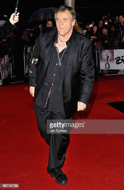 Meat Loaf attends The Brit Awards at Earls Court on February 16 2010 in London England