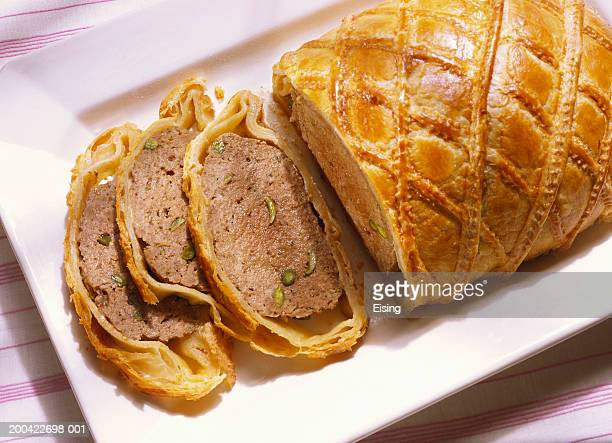Meat loaf in puff pastry