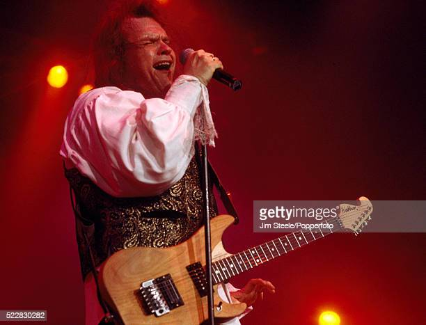 Meat Loaf performing on stage at the Wembley Arena in London on the 3rd December, 1994.