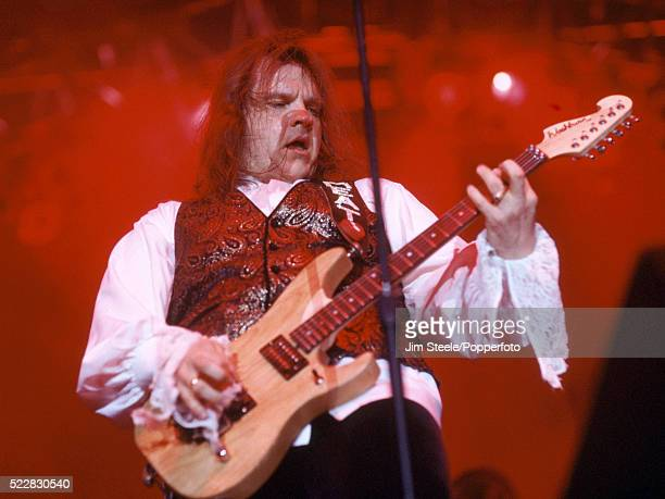 Meat Loaf performing on stage at the Wembley Arena in London on the 3rd December 1994