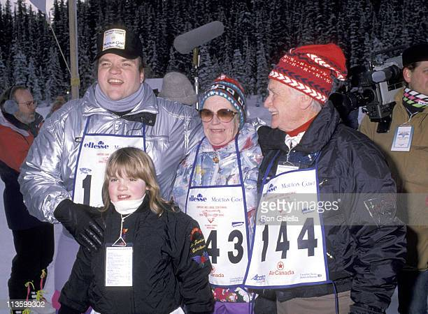 Meat Loaf Sir John Mills and guests during Chateau Lake Louise Centennial Celebrity Sports Invitational at Chateau Lake Louise in Lake Louise Alberta...