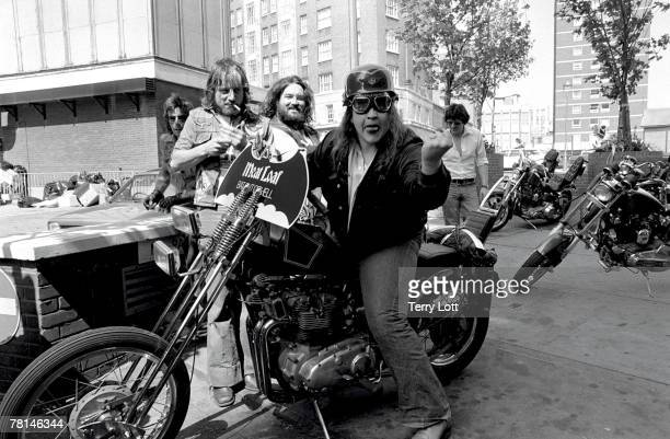 Meat Loaf With Hells Angels Escort, Soho, London