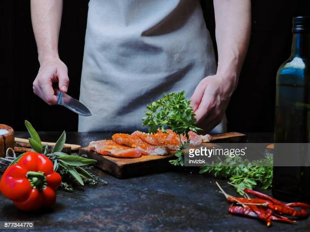 Fleisch kochen Lende