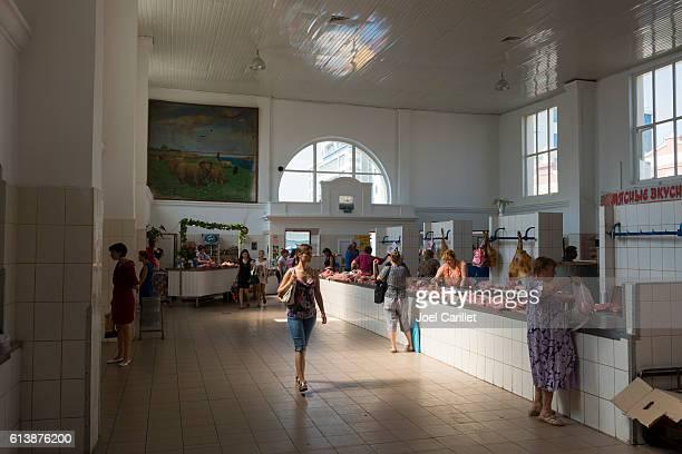 meat market in odessa, ukraine - odessa ukraine stock photos and pictures