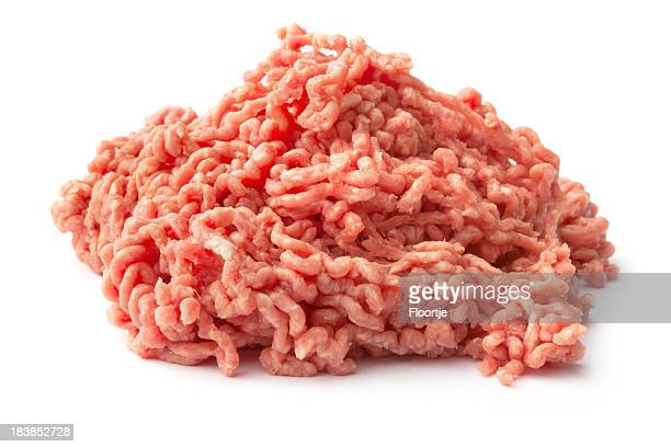 Meat: Minced Meat Isolated on White Background