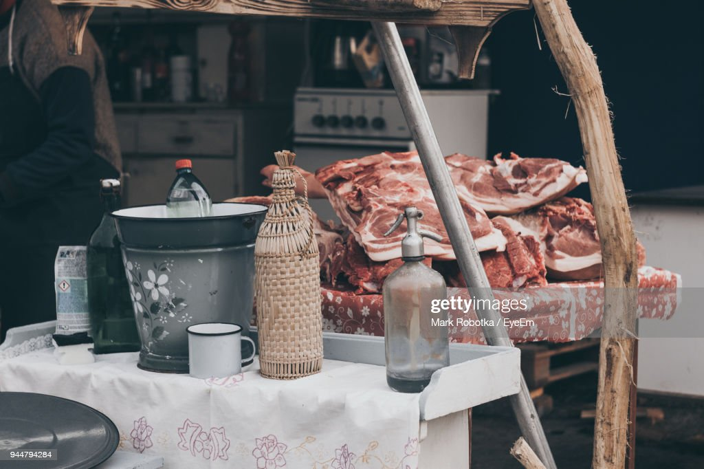 Meat On Table : Stock Photo