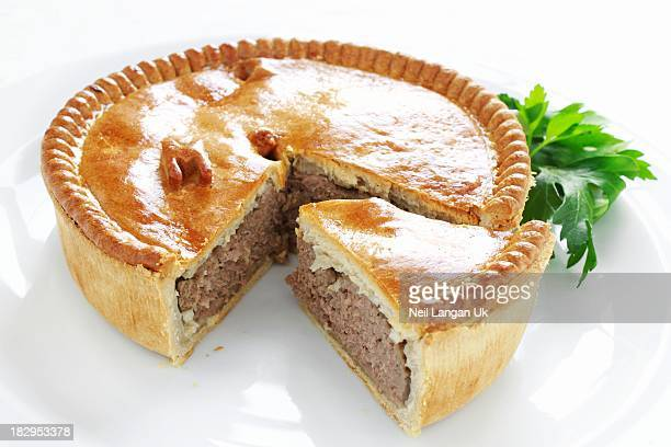 meat pie on white plate