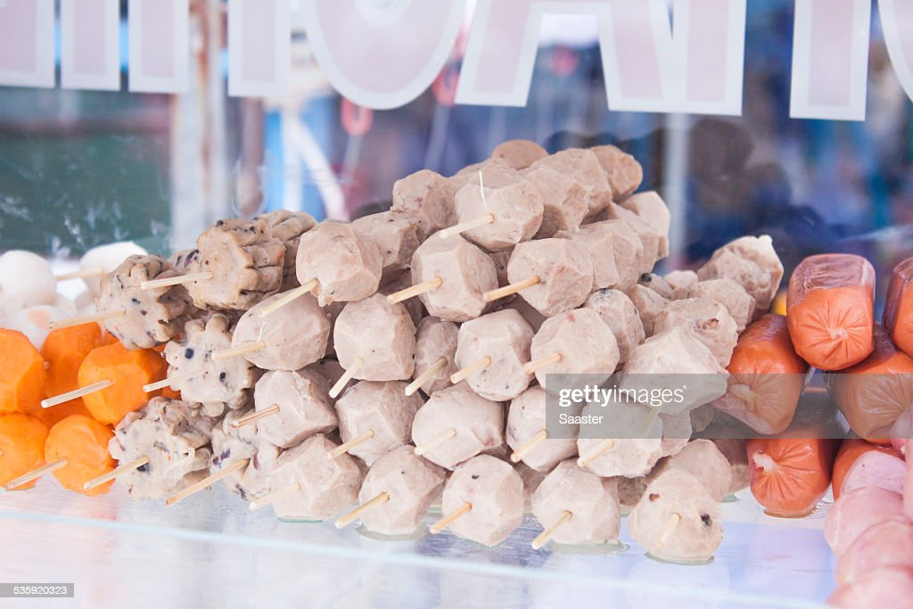 Meat skewer : Stock Photo