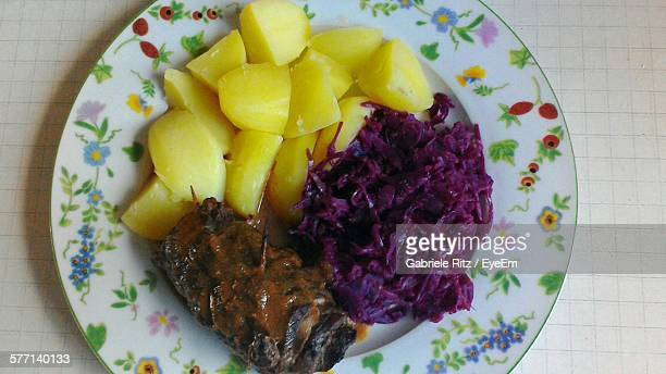 Meat With Boiled Potato And Beet