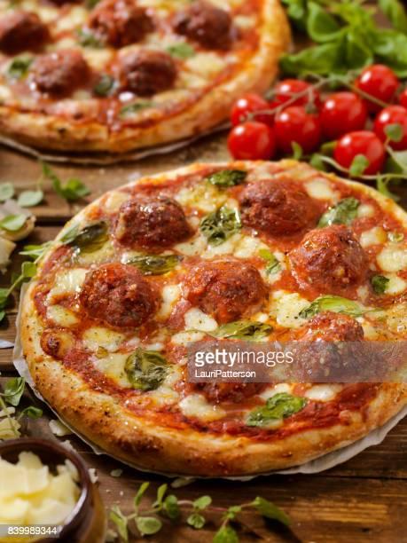 Meatball Marinara Pizza