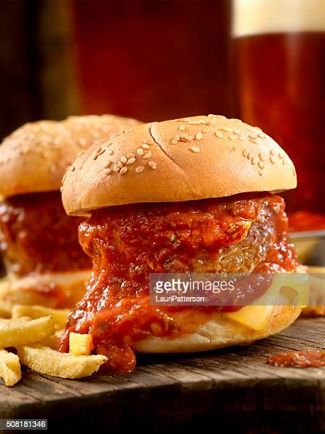 Meatball Sliders with Fries and Beers