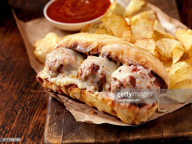 meatball sub - submarine sandwich stock pictures, royalty-free photos & images