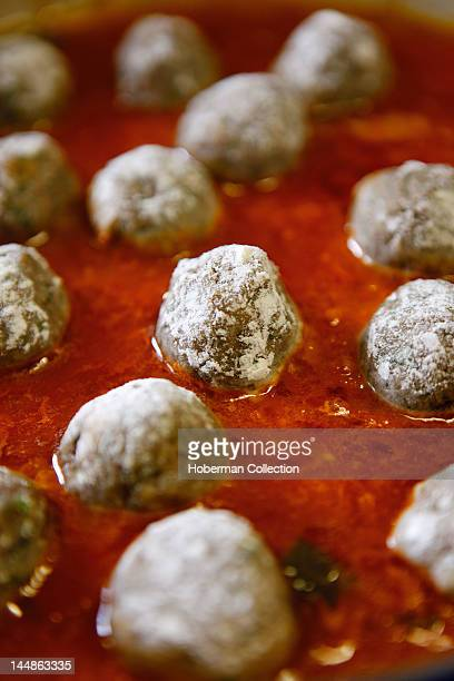 Meatballs poached in Tomato Sauce