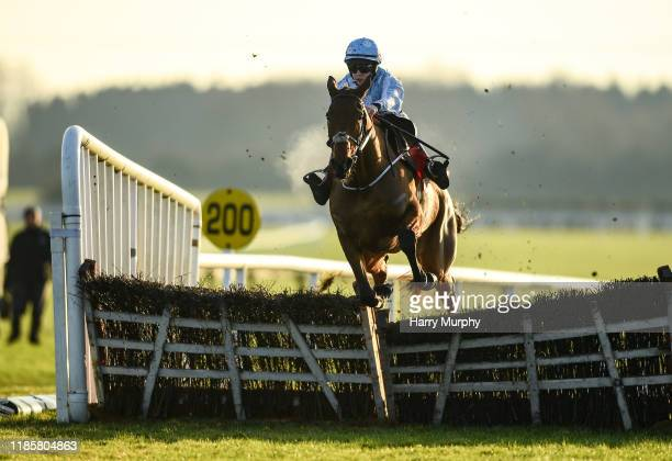 Meath Ireland 1 December 2019 Honeysuckle with Rachael Blackmore up jumps the last on their way to winning the BARONERACINGCOM Hatton's Grace Hurdle...